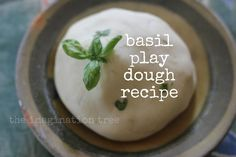 Easy basil play dough recipe and other herbal play dough ideas!