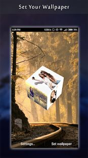 3D Photo Cube Live Wallpaper- screenshot thumbnail