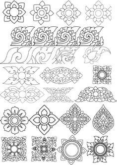 Drawing Patterns Dibujo Ideas Happy New Year Tibetan Mandala, Tibetan Art, Mural Painting, Fabric Painting, Angkor, Mehndi, Henna, Cambodian Art, Motif Arabesque