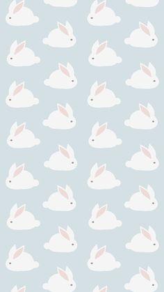 Super Ideas For Cool Wallpaper Iphone Backgrounds Pattern Art Prints Kawaii Wallpaper, Cool Wallpaper, Rabbit Wallpaper, Nursery Wallpaper, White Wallpaper, Screen Wallpaper, Cute Backgrounds, Wallpaper Backgrounds, Iphone Backgrounds