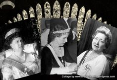 The diamond fringe Kokoshnik tiara, owned originally by Marie Duchess of Edinburgh and Saxe-Coburg-Gotha, bequeathed to her daughter, the future Queen Marie of Romania, and given in turn to her daughter,Queen Maria of Yugoslavia