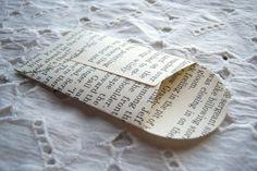book page envelopes
