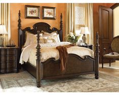 TM - Lucca Poster Bed/Hills of Tuscany Collection/ Grandeur Home Interiors-Dubai