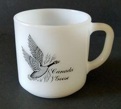 Canada Goose Coffee Mug Federal Glass Canvasback Duck Vintage Cup #FederalGlassMirror #Vintage