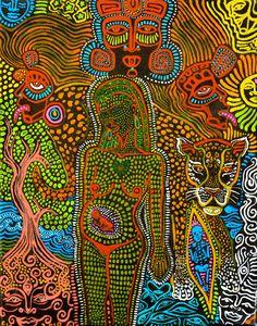 Inspiré de l'Art sacré d'accouchement avec par MariposaGalactica