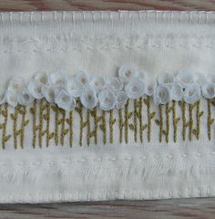 embroidery flowers. simple & sweet