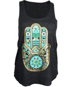 Kappa Delta Hamsa Tank by Adam Block Design   Custom Greek Apparel & Sorority Clothes   www.adamblockdesign.com