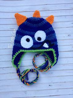 Crochet Monster Hat Monster Hat Crochet Boy Hat Crochet
