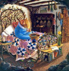 dear mom Mary Jane Begin Dear Mom 1992 Original Lithograph S Art And Illustration, Vintage Illustrations, Dear Mom, Woodland Creatures, Whimsical Art, Cute Art, Illustrators, Cute Pictures, Fantasy Art