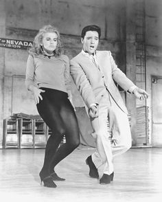 "It's that ""go-go"" guy and that ""bye-bye"" gal in the fun capital of the world! #VivaLasVegas #ElvisPresley #AnnMargret"