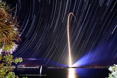 Rocket Streak and Star Trails  Image Credit & Copyright: Mike Killian  / AmericaSpace [APOD]