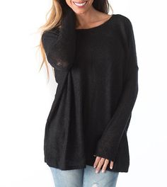 Give us all the snuggles....The most delicious black soft &cozy sweater has graced our path and we're in loooveeeee {avail 01/24}