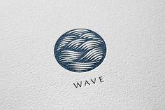 Wave Logo by Michael Rayback Design on logo Logo Design Tips, Logo Design Inspiration, Best Logo Design, Creative Sketches, Creative Logo, Sea Logo, Wave Illustration, Water Logo, Wave Design