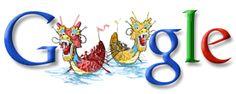 Google Doodles, Doodle 4 Google, Dragon Boat Festival, Connect Online, Year Of The Dragon, June 8, Illustration, Artist, Gifts