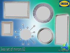 Lana CC Finds - The Sims 4. Ikea set of mirrors 02 by Natatanec...