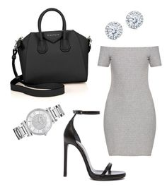 """""""Untitled #13"""" by lluviagb on Polyvore featuring Topshop, Yves Saint Laurent, Givenchy, Michael Kors and Kobelli"""