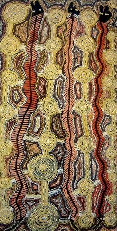 Yala Yala Gibbs Tjungurrayi / Kanparrka (Centipede Dreaming) 1996  90.5 x 45 cm