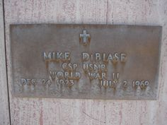 Grave Marker- Michael DiBiase, wrestler. DiBiase is one of the few professional wrestlers to die during a match. On July 2, 1969 in Lubbock, Texas, DiBiase suffered a fatal heart attack in the ring during a match with Man Mountain Mike. Harley Race, realizing that he was suffering a heart attack, attempted to perform CPR on DiBiase and then rode in the ambulance to the hospital with him. DiBiase was pronounced dead at the hospital. He is buried in the Sunset Cemetery in  Willcox, Arizona.
