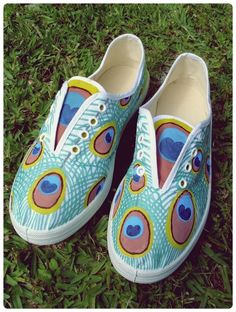 Paint Your Own Peacock Shoes