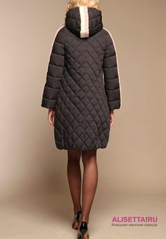 27888=Расклешеное пуховое пальто NAUMI N17 82 01 BLACK