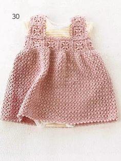 Fancy Pink Baby Dress free crochet pattern#Repin By:Pinterest++ for iPad#
