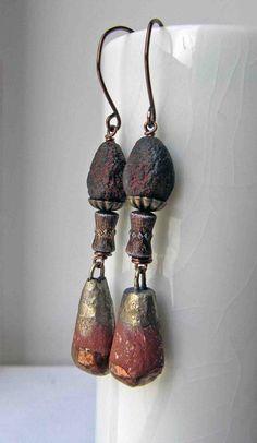 Fab!!!!! Apache tears  handmade earrings beaded earrings by somethingtodo, £19.50