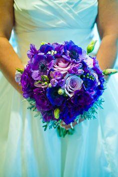 My purple bridal bouquet