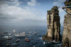 Cliff Diving, Vila Franca Islet, Sao Miguel Island, Azores, Portugal