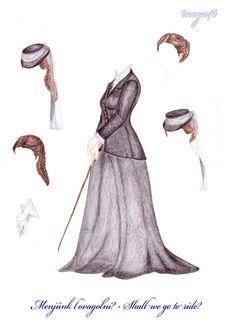 Vanda's Secret Wardrobe - Riding dress- blackwhite by maya40.deviantart.com on @deviantART
