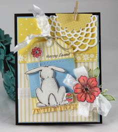 Happy Easter Card  #FSJourney #Stamping #Scrapbook Fun Stampers Journey - FSJ