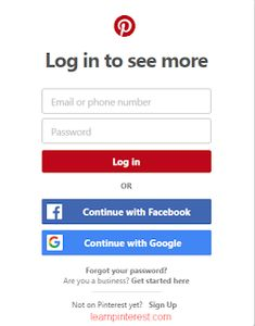 18 UX Design Tips for Registration and Login Forms - UX Planet Pinterest App, Log In To Pinterest, Pinterest Account, App Login, Login Form, Login Page, Online Bulletin Board, Rolls Royce For Sale, Get Started