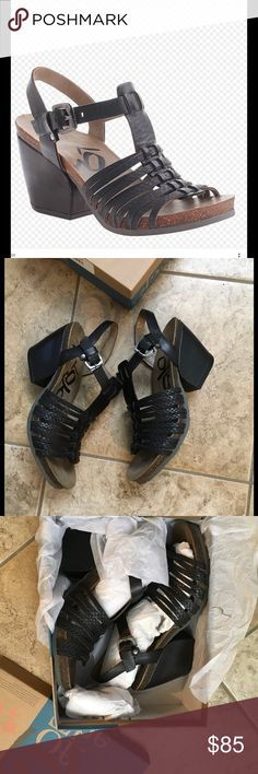 OTBT Leon black leather sandals Sz 8.5 New w/box Beautiful shoes by OTBT ! Dressy meets comfort a sandal that you can wAlk in all day OTBT Shoes Sandals