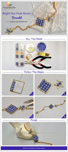 DIY Pandahall Elite bright star pealr beads bracelet
