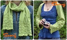 A few years ago I shared this tutorial for a scarf that can also be worn as a shrug. It's great for Spring, made in a jersey knit with lettuce edge detail. But, oooh, what about fall? I'm eyeing some great sweater-knitfabric out there,thinking about making another. Maybe with wider sleeves. What do you ...