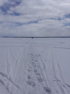 Ice fishing hut, Manitoulin Island, lake Manitou.