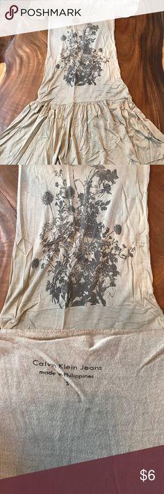 Calvin Klein T-Shirt Dress Very soft. Great casual outfit. Calvin Klein Dresses Midi