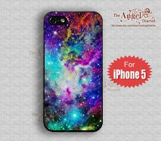 Fox Fur Nebula iPhone 5 Case, iPhone 5 Cover, iPhone 5 Hard Plastic Case, Personalized iPhone Case--water proof