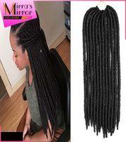 "18"" Havana Mambo Faux Locs Braids 24Strands Crochet Dreadlock Braid Hair Extensions Softex Crochet Twist Braids Free Shipping"