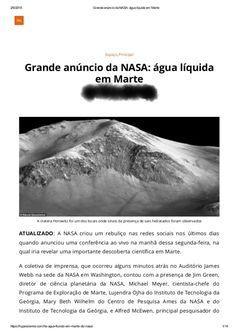 curiosidades ocultas: Grande Anúncio da Nasa água Líquida em Marte EM 20...