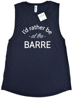 Yup...this tank says it all! If you are a dedicated barre-ista then you definitely need to add this flowy tank to your collection. This super soft muscle tank softly drapes around curves and features