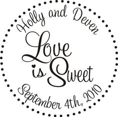 Love is Sweet Rubber stamp DIY Wedding Candy by stampoutonline, $29.95