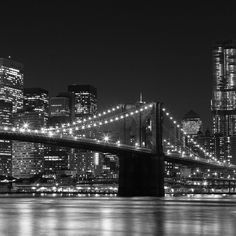 New york city skyline at night black and white. New york city skyline at night black and white. New york city skyline at night black and white hd. New York Black And White, Black And White Pictures, Bridge Wallpaper, Hd Wallpaper, Nyc Skyline, City Photography, Photography Ideas, City Lights, Night Lights