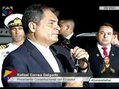 Declaraciones del Presidente Rafael Correa a su llegada a Isla de Margar...
