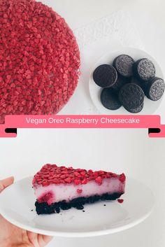 TEXT HERE Oreo, Raspberry Cheesecake, Cereal, Vegan Recipes, Fruit, Breakfast, Sweet, Food, Morning Coffee