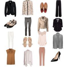 Capsule wardrobe sudoku: each row, column, diagonal, & the 4 corners make an outfit