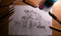 John Deere 💚🚜 #art #illustration #johndeere #drawing #draw #picture #photography #artist #sketch #sketchbook #paper #pen #pencil #artsy #instaart #beautiful #instagood @appslejandro #gallery #masterpiece #creative #photooftheday #agriculture #graphic #graphics #tractor