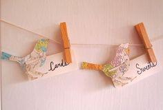 Place Cards, Escort Cards, Map Theme, Map Bird, Destination Wedding, Bird Place Cards, Travel Theme, Set of 25, Cream Card Stock, Bird Theme