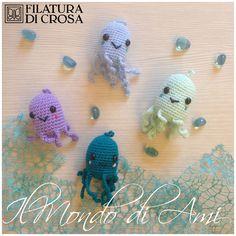 Portachiavi polipi #handmade #amigurumi #crochet realizzati con filato Brilla e Zarina Filatura di Crosa