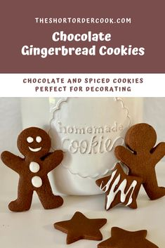 Gingerbread House Template, Gingerbread Cookies, Gingerbread Recipes, Christmas Cookies, Best Chocolate, Chocolate Cookies, Recipe To Use Up Milk, Easy Baking Recipes, Baking Ideas