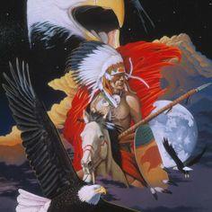 Giclee Print: Eagle Warrior by Graeme Stevenson : Eagle Eye, Bald Eagle, Vivid Colors, Framed Artwork, Find Art, Giclee Print, Poster Prints, Artist, Anime